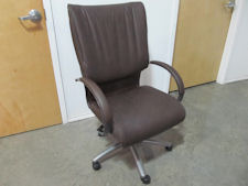 Boss Brown/Pewter Leather Plus Executive Chair