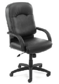 Boss Black Caressoft Executive Chair w/ Tilt Tension & Tilt Lock Adjustments