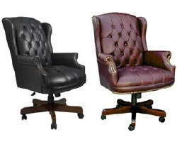 Boss Wing Back Executive Chair - Available in Black or Oxblood
