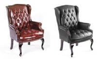 Boss Wing Back Guest Chair - Available in black or oxblood