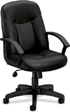 Hon Basyx Black Leather Executive Chair