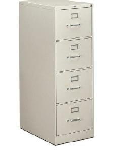 Hon 4-drawer Legal Size File Cabinet w/ Lock - Available in black or putty