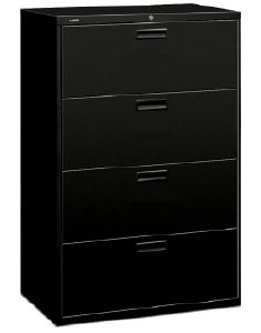 Hon 4-drawer Lateral File - Available in Black or Putty