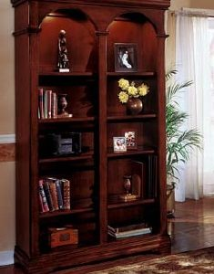 DMI Rue de Lyon Double Bookcase, Chocolate Patina color Wood Veneer