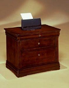 DMI Rue de Lyon 2-drawer Lateral File, Chocoloate Patina Color Wood Veneer