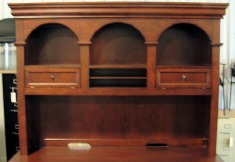 DMI Rue de Lyon open Hutch, chocolate patina color wood veneer