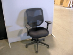 Hon Basyx High-back Mesh Chair w/ upholstered seat, swivel tilt mechanism, tilt tension & tilt lock adjustments.