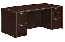 "DMI Fairplex Bow Front Executive Desk - 42"" x 72"""
