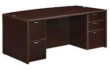 "DMI Fairplex Bow Front Executive Desk - 42"" x 72"""