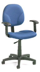 BOSS B1691 Drafting Stool with Adjustable Arms - Blue