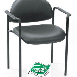 Boss Black Vinyl Stack Chair