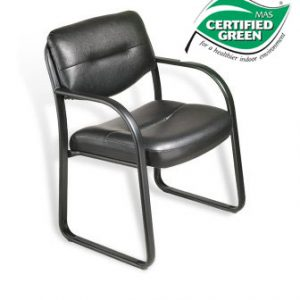 Boss Black Sled Base Guest Chair