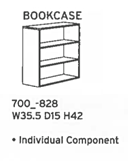 "DMI Fairplex 42""H Bookcase"