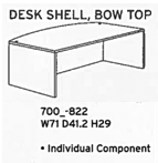 Desk Shell Bow Top