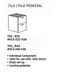 DMI Fairplex File/File Pedestal