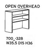 DMI Fairplex Bookcase Hutch