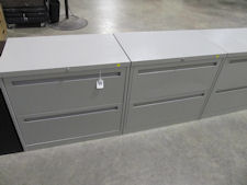"Used Lt. Gray 30"" Wide 2-drawer Lateral File"