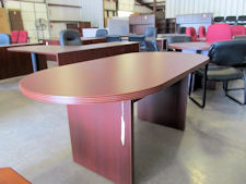 New DMI Fairplex 6' Oval Conference Table - Available in Mocha, Mahogany (shown), Walnut or Cognac Cherry Finish