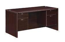 """DMI Fairplex Desk 30"""" x 60"""" w/ 3/4 Pedestals"""
