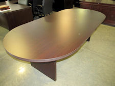 New DMI Fairplex 8' Oval Conference Table - Available in Mocha (shown), Mahogany, Walnut or Cognac Cherry Finish