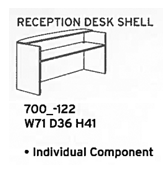 reception desk shell